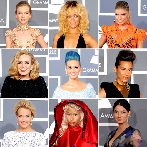 Grammys 2012 Red Carpet Fashion