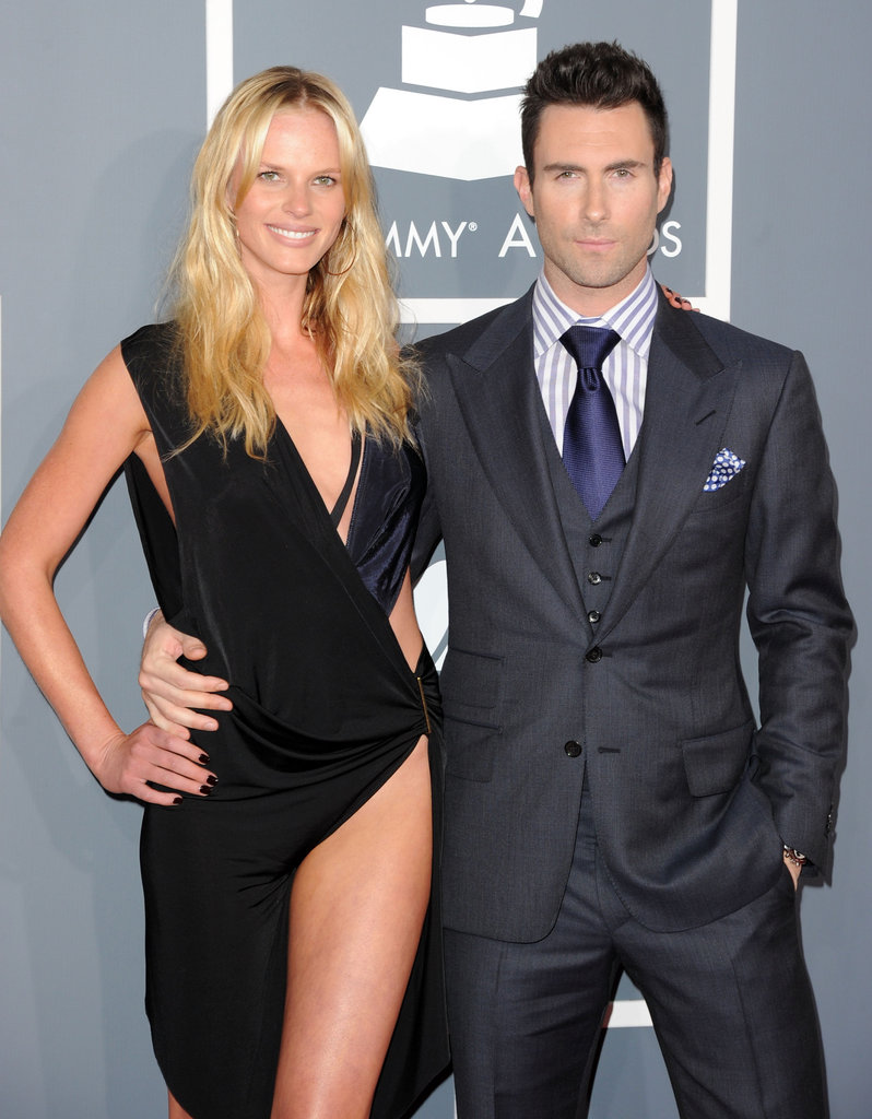 Anne V shows some serious leg next to boyfriend Adam Levine of Maroon 5.
