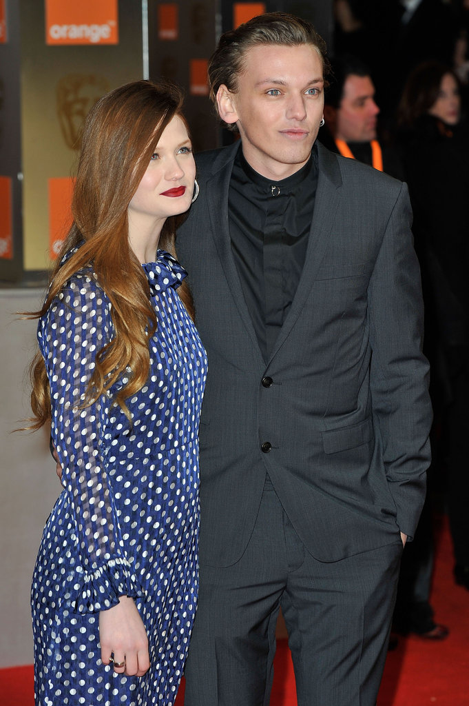 Actress Bonnie Wright and actor Jamie Campbell Bower attend the BAFTAs.