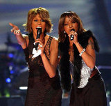 Whitney performs with Mary J. Blige in 2002.