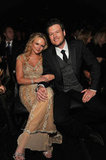 Country crooners Miranda Lambert and her hubby Blake Shelton cozy up at the Grammys.