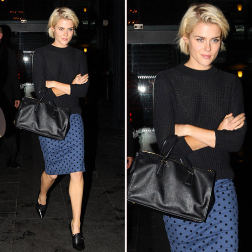 Rachael Taylor Polka-Dot Pencil Skirt