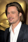 Brad Pitt with long hair.