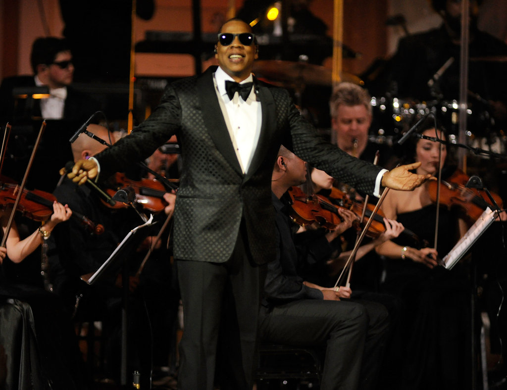 Jay-Z performing at Carnegie Hall.