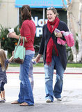 Jennifer Garner meeting a friend in LA.