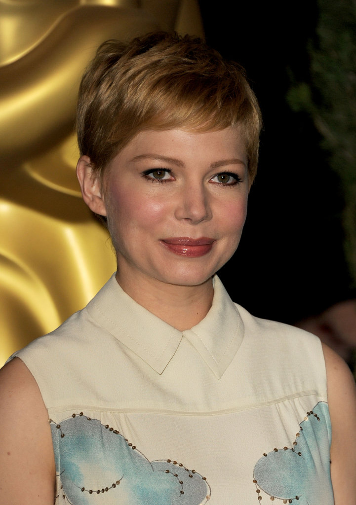 Michelle Williams at the 2012 Oscar nominees lunch.