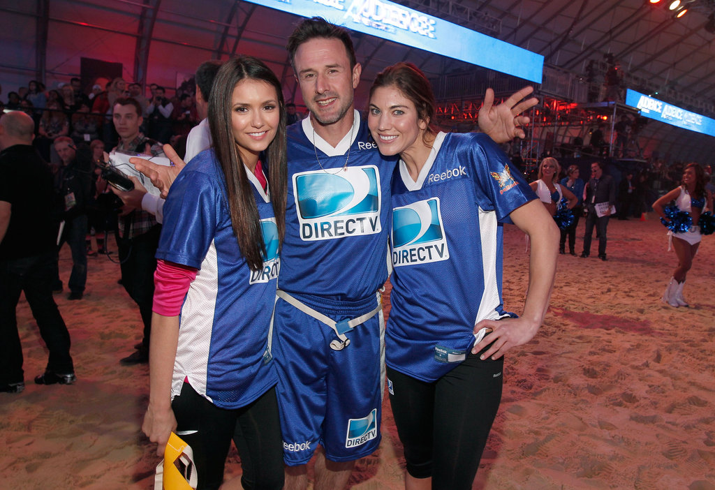 Nina Dobrev and David Arquette