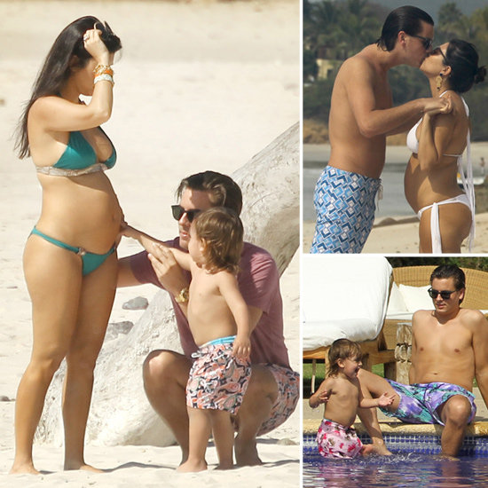 Pregnant Kourtney Kardashian Breaks Out Her Bikini For a Tropical    Kourtney Kardashian Bikini 2012