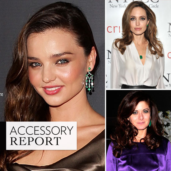 Celebrity Accessory Report: Emerald Gemstones