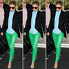Fergie Green Leather Pants