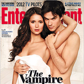 Nina Dobrev, Ian Somerhalder, Naked Entertainment Weekly Cover
