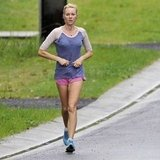 Naomi Watts went for a run in Sydney.