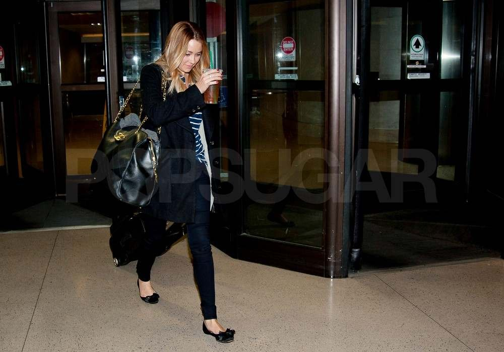 Lauren Conrad leaving the airport.