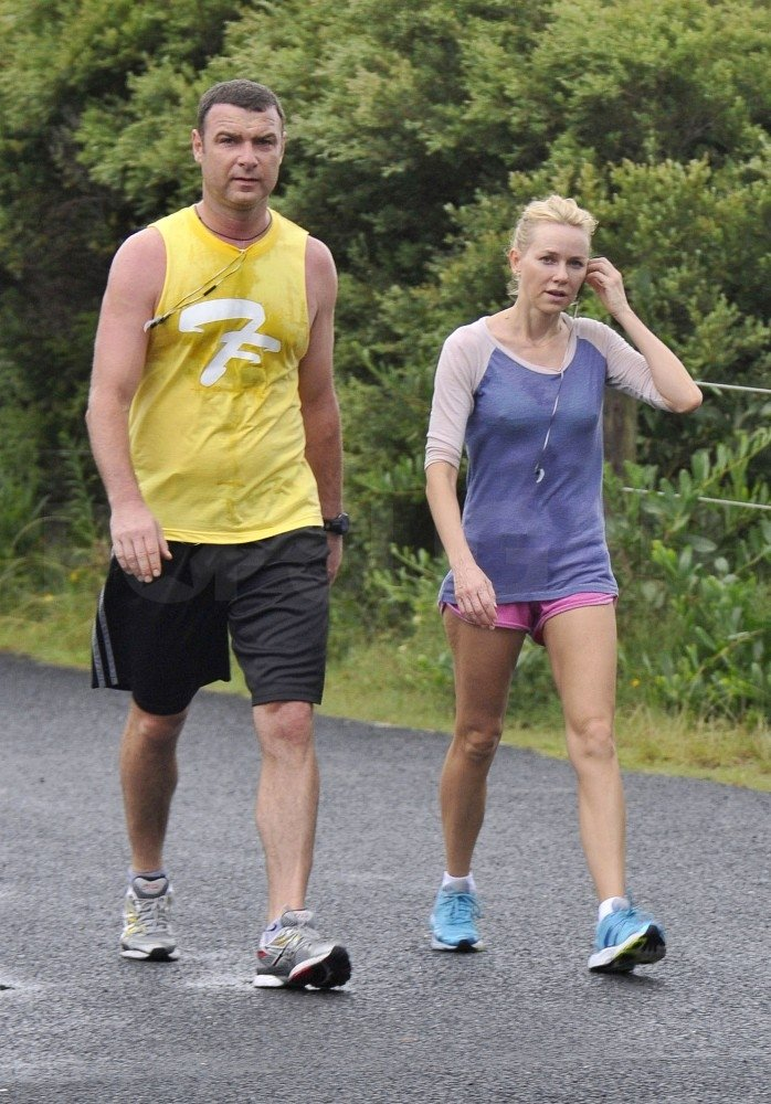Liev Schreiber and Naomi Watts worked out together.