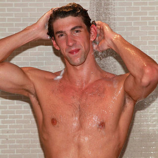 Michael Phelps in Shower