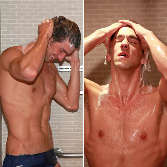Michael Phelps Brings Out His Abs For a Shower Party