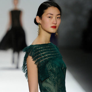 Tadashi Shoji New York Fashion Week Fall 2012 Hair and Makeup