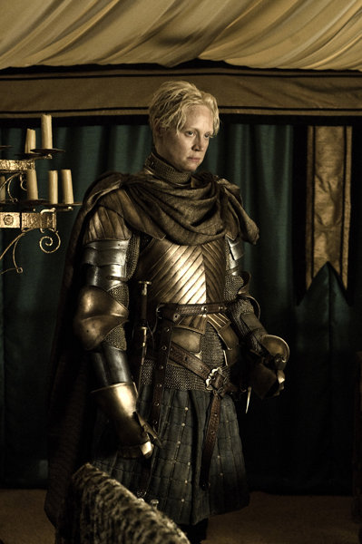 Gwendoline Christie as Brienne on Game of Thrones.  Photo courtesy of HBO