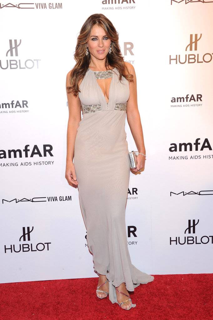 Elizabeth Hurley attended the 2012 amfAR gala in NYC.