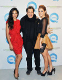 Camila Alves posing with Isaac Mizrahi and Maria Menounos.