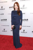 Julianne Moore wore blue on the red carpet.