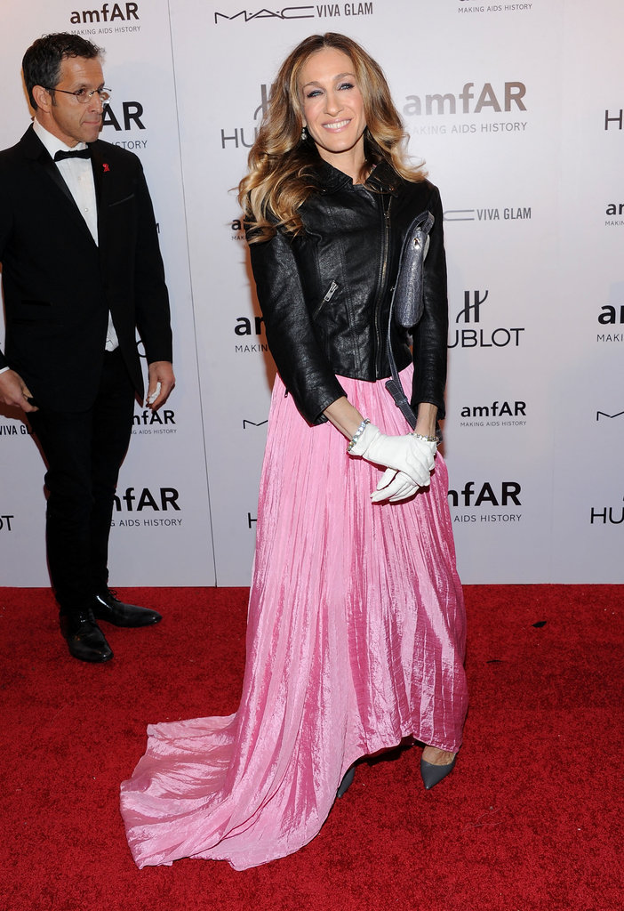 Sarah Jessica Parker attended the 2012 amfAR gala in NYC at Cipriani Wall Street.