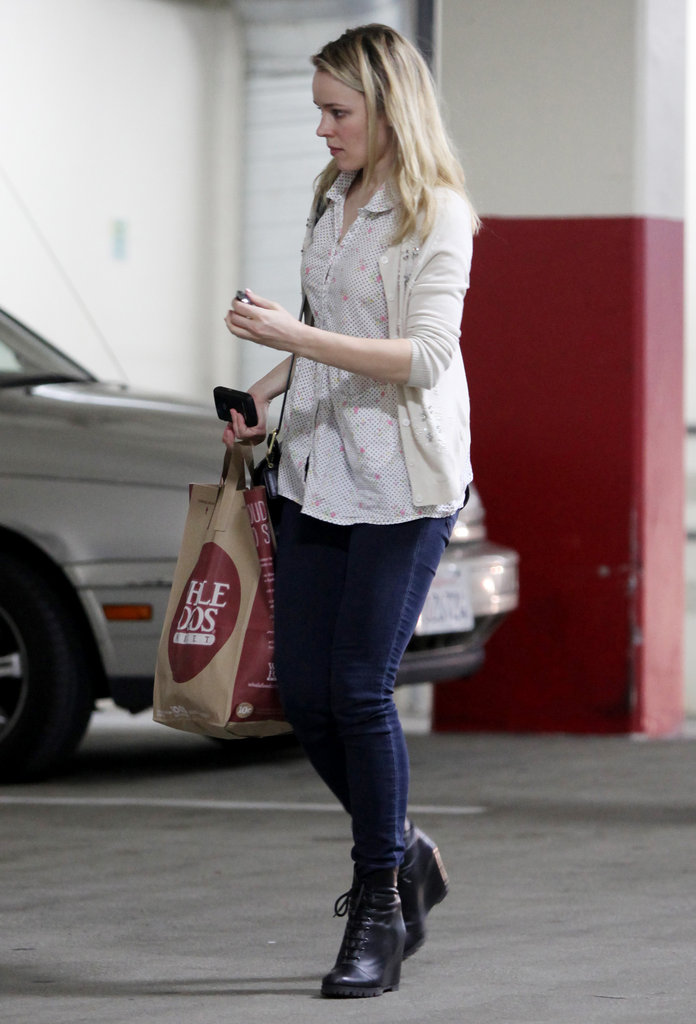 Rachel picked up groceries at Whole Foods in LA.