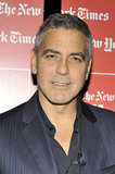 """George Clooney sat down for a """"TimesTalks"""" interview with New York Times journalist David Carr ."""
