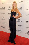 Erin Heatherton attended the 2012 amfAR gala in NYC without boyfriend Leonardo DiCaprio.