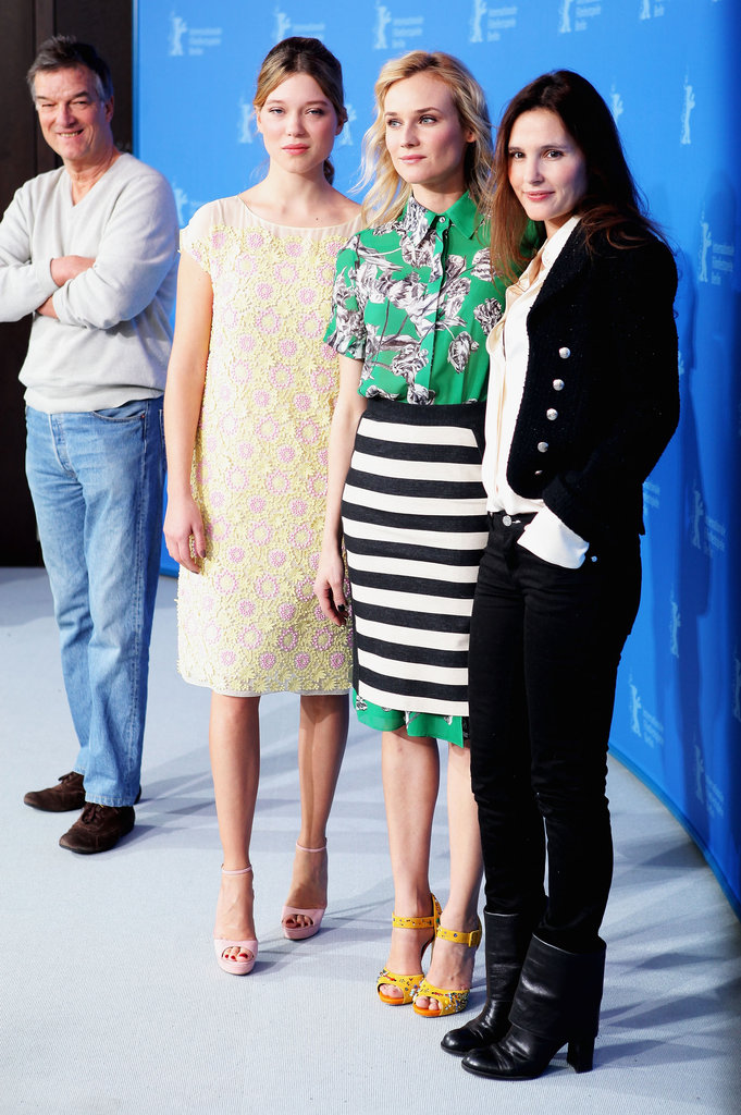 Virginie Ledoyen, Diane Kruger, and Lea Seydoux did press for Farewell My Queen.