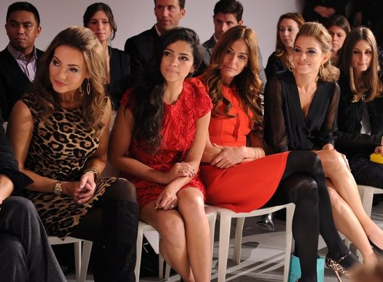 Camila Alves, Kelly Killoren Bensimon, Maria Menounos, and Olivia Palermo in the front row at QVC's runway show.  worldredeye.com