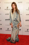 Elisa Sednaoui opted for soft full-length florals.