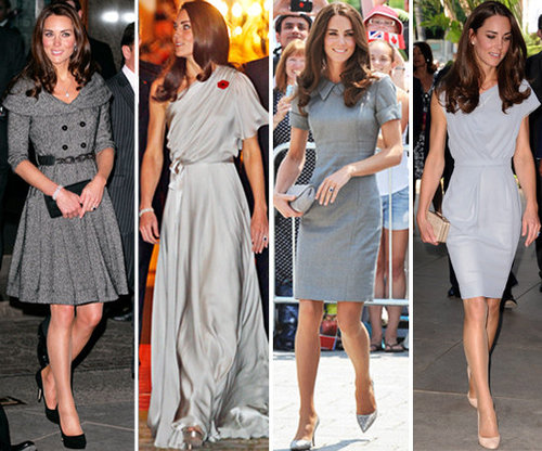 Kate Middleton Grey Dress