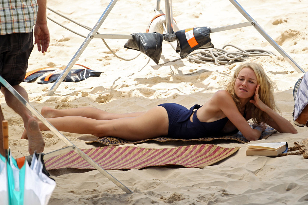 Naomi Watts filming in Australia.