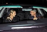 George Clooney drive Stacy Keibler home.
