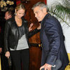 George Clooney and Stacy Keibler at Dan Tana's Pictures