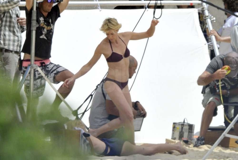 Naomi Watts and Robin Wright Show Off Their Beach Bodies For the Cameras