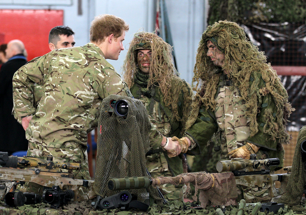 Prince Harry met with vets.