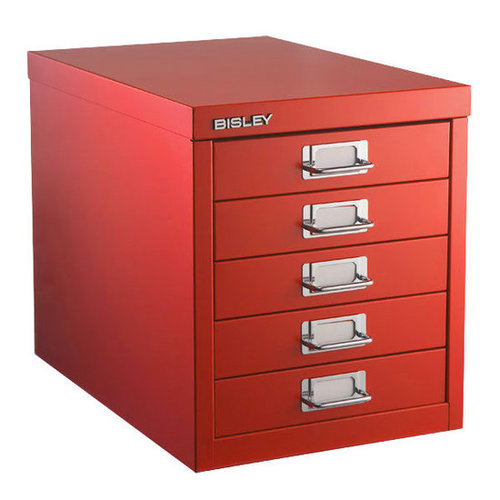 Bisley® 5-Drawer Cabinet Red