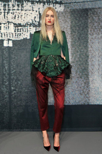 Wes Gordon Runway 2012 Fall