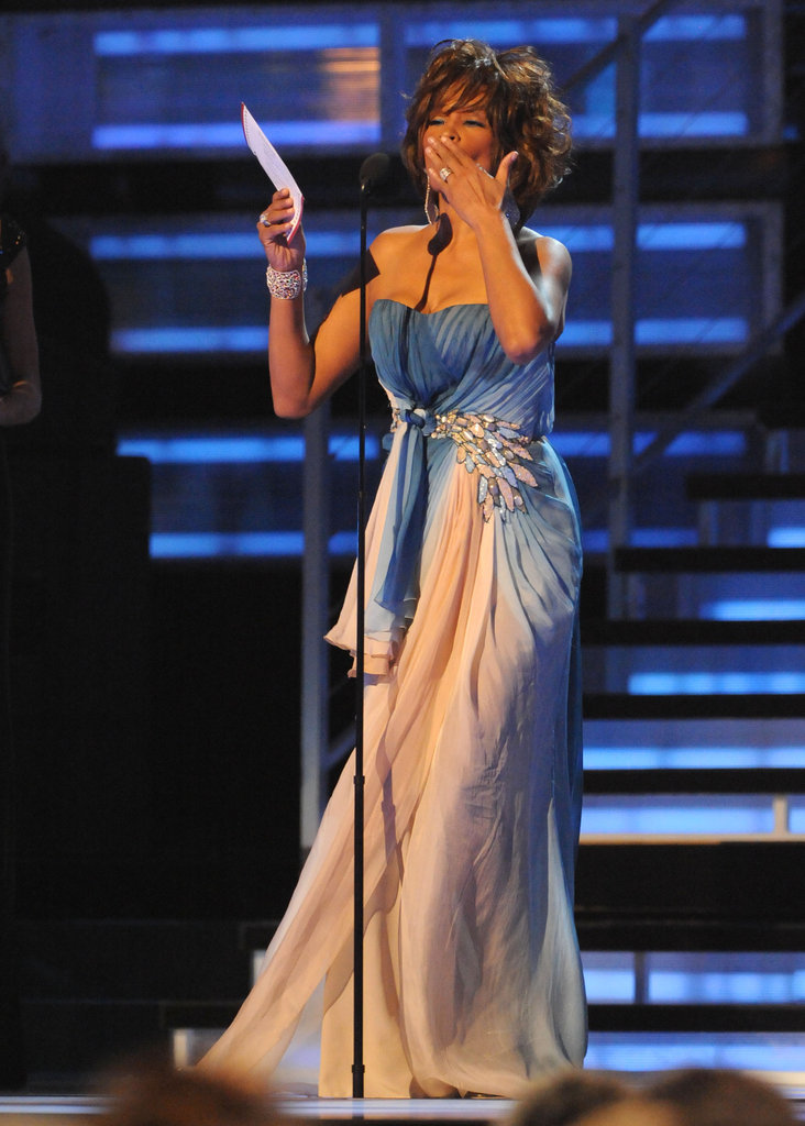Whitney spoke during the 2009 Grammys.