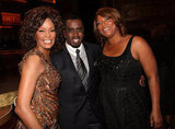 Whitney took a picture with Diddy and Queen Latifah at the BET Honors in 2010.