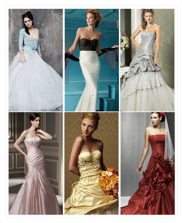 Snuggle 39 s blog unique colorful wedding dresses may add for Non traditional wedding dress colors
