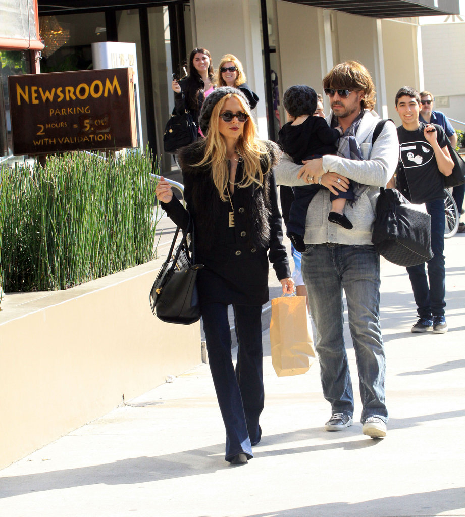 Rachel Zoe and Rodger Berman left the Newsroom Cafe in LA with Skyler.