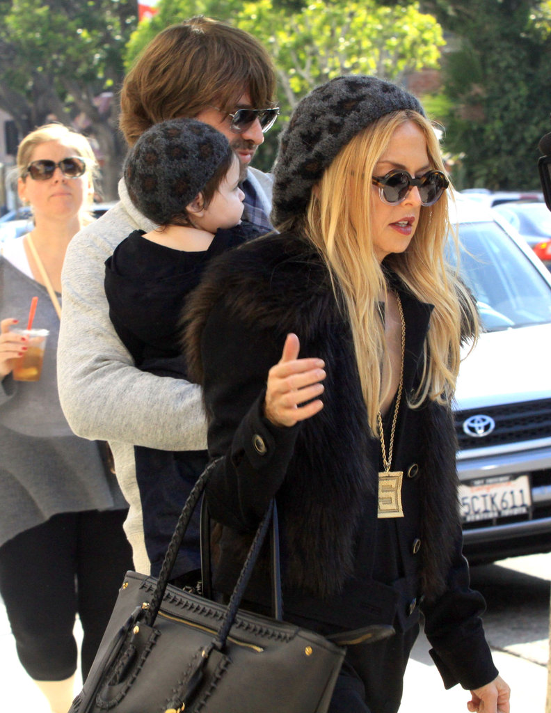 Rachel Zoe and Rodger Berman headed home with son Skyler.