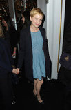 Michelle Williams wore denim to Mulberry.