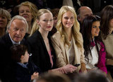 Harold Tilman, Jade Parfitt and Poppy Delevingne at Aquascutum