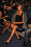 She was all smiles in the audience at the 2009 American Music Awards.