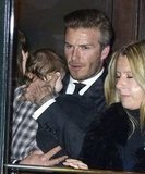 David Beckham with Harper Beckham.
