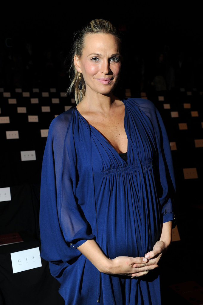 Molly Sims attended NYFW.